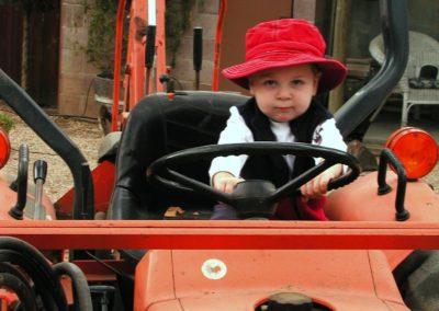 Caden on Tractor